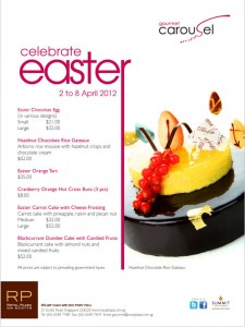 carousel gourmet easter chocolate and desserts promotions