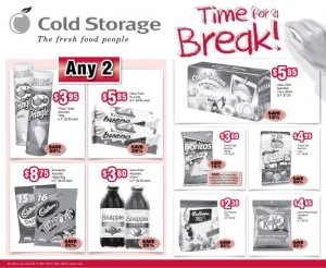 cold storage time for a break supermarket promotions