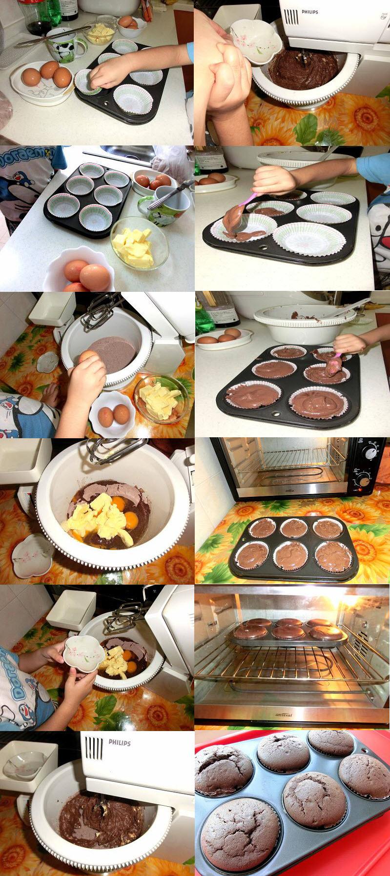 cupcake baking process