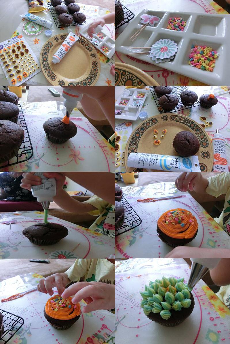 cupcake decorating process