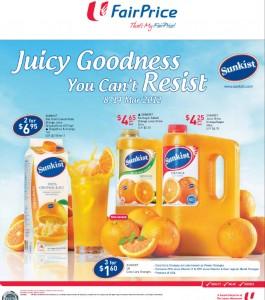 fairprice supermarket promotions - sunkist promotions