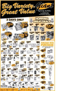 giant  supermarket promotions 3 days only