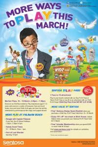sentosa school holidays promotions - sentosa march activities