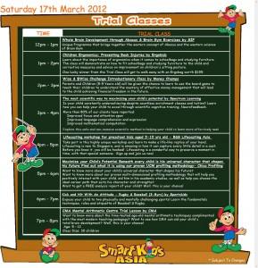 smart kids asia 2012 Trial Classes