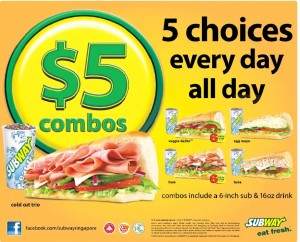 subway $5 combo deals