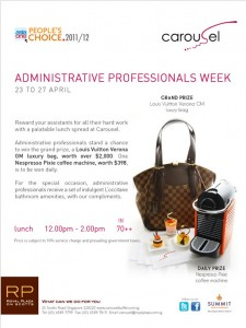 Carousel Administrative Professtionals Week Promotions