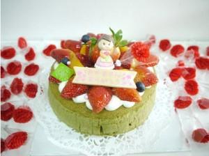 cake flor green tea souffle