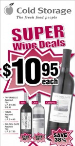 cold storage super wine deals supermarket promotions
