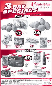 fair price 3 days specials supermarket promotions