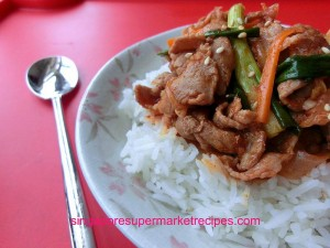 Spicy Korean Pork Rice with CJ Beksul Korean BBQ Sauce