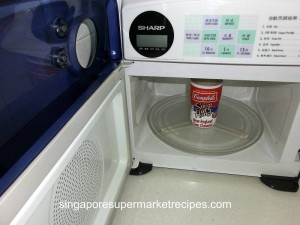 Campbell's Soup at Hand Clam Chowder Heating in Microwave