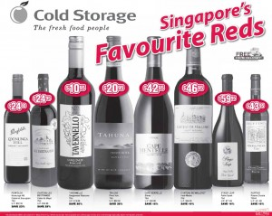 Cold Storage red wine supermarket promotions