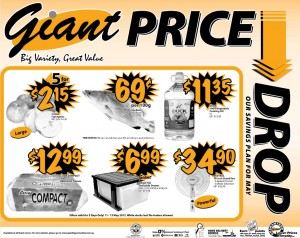 Giant Price Drop supermarket promotions