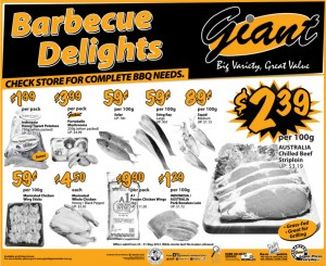 Giant Weekly BBQ Supermarket Promotions