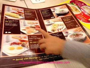 Lai Lai dining breakfast menu