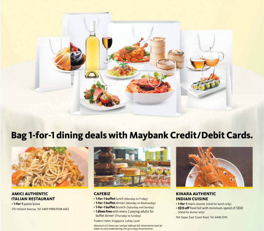The Dining Room Buffet Credit Card Promotion Sets