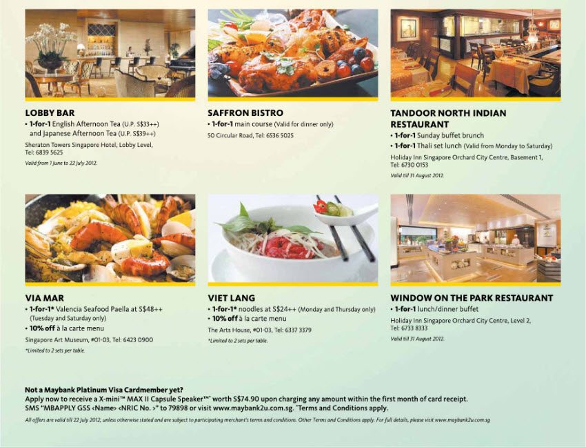 May Bank Dining Promotions