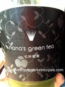 Nana's Green Tea takeaway