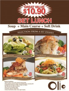 Olio Cafe Set Lunch Promotions