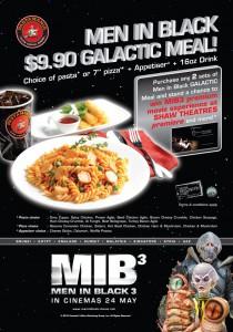 Pasta Mania Men In Black Dining Promotions