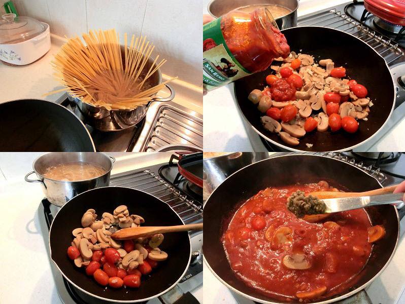 Pasta sauce using Tapenade Olive spread