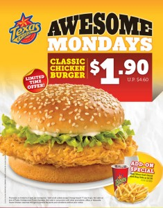 Texas Awesome Monday Burger Promotions