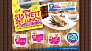 clarke quay lunch time promotions