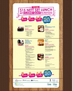 clarke quay set lunch  promotions - special lunch deals