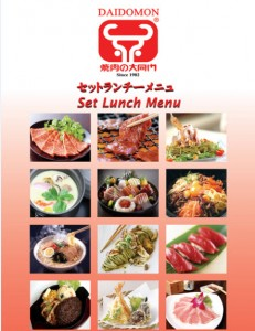 Daidomon Japanese BBQ set lunch promotions