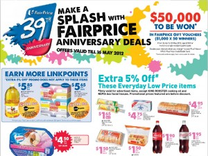 fairprice 39th anniversary  Supermarket Promotions