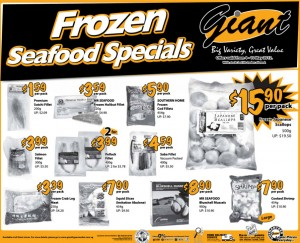 giant frozen seafood  supermarket promotions