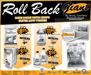 giant roll back supermarket promotions