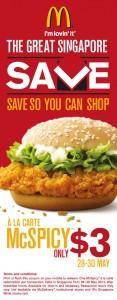McDonald $3 McSpicy Deal