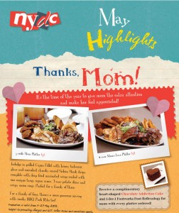 nydc mother's day dining promotions