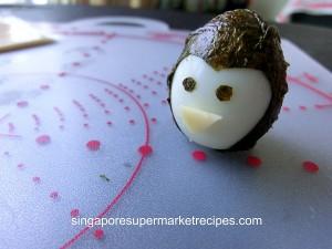 Quail Egg Penguin for kids bento