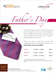 Carousel father's day promotions