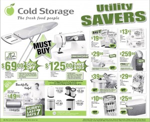 Cold Storage Utility savers supermarket promotions