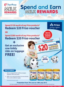 Fairprice Milk Rewards Supermarket Promotions