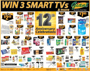 Giant 12 Annivesary Supermarket Promotions