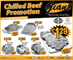 Giant Gilled Beef Supermarket Promotions