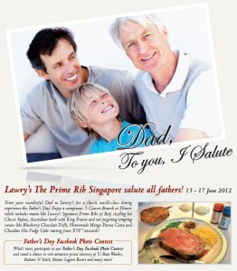 Lawry's Father's Day Dining Promotions