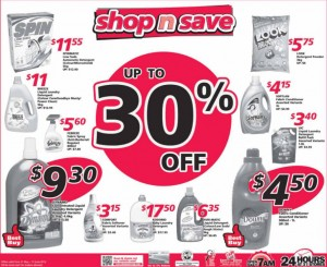 Shop n Save 30 percent off  Supermarket Promotions