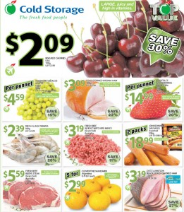 cold storage supermarket fruits promotions