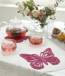 Yamajitsu Pink Butterfly Trivet