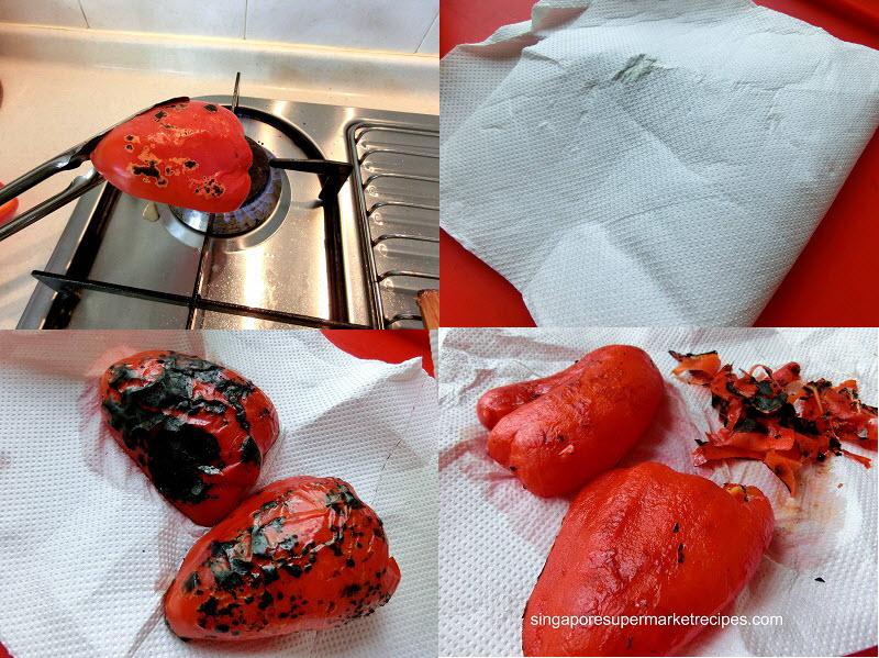 How to roast capsicum or pepper at home