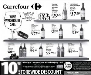 Carrefour Wine Supermarket Promotions