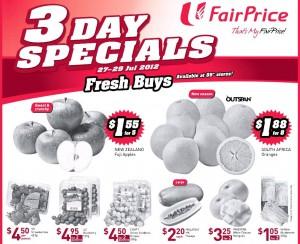 Fairprice 3 days specials