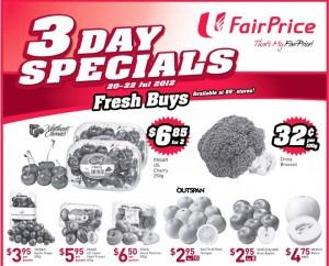 Fairprice 3 days supermarket promotions