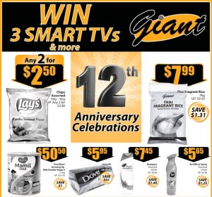 Giant 12 Anniversary Supermarket Promotions