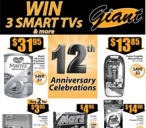 Giant 12th anniversary supermarket promotions